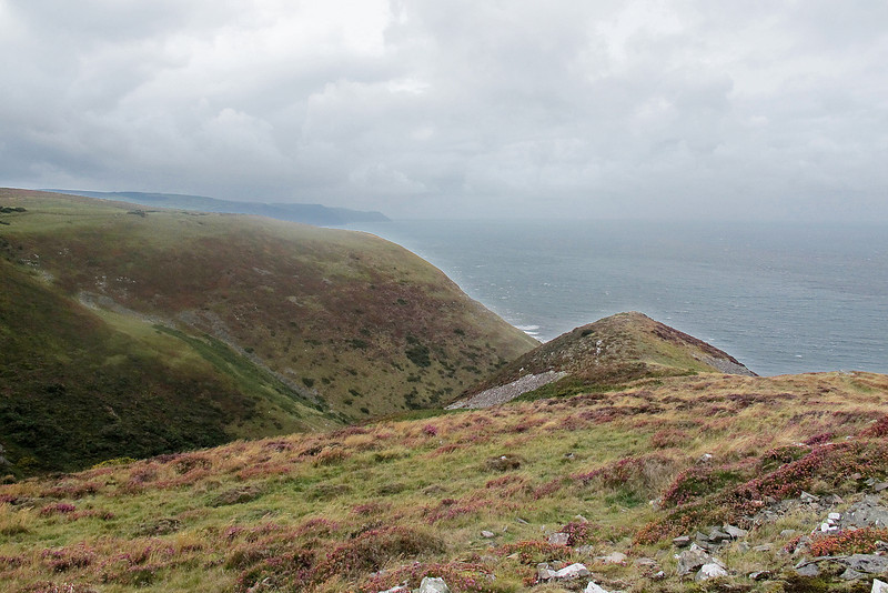 Henners Combe with headlands beyond Porlock.