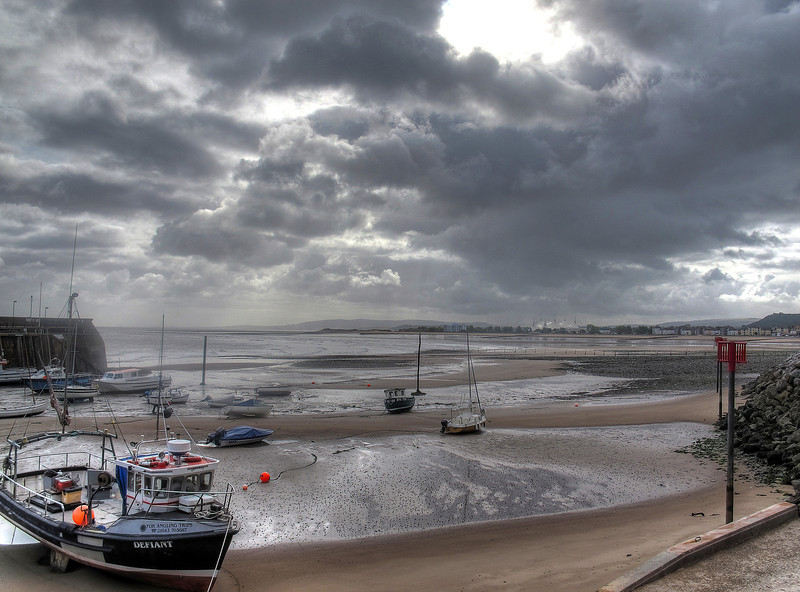 A last look at Minehead Bay before striking into the hills.