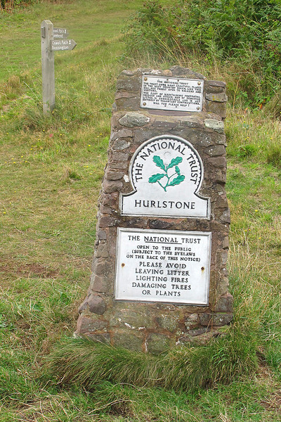 A familiar NT sign, this one at the bottom of Bossington Hill.