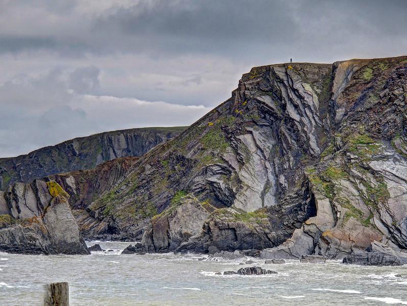 Brooding cliffs near Hartland Quay