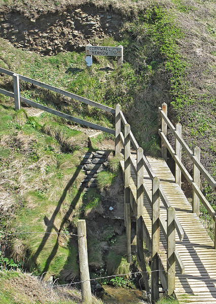 The end of the North Devon section of the path - across this bridge lies Cornwall (Kernow in the ancient Cornish tongue).