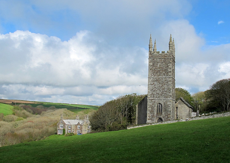 The church and Rectory, Morwenstow.