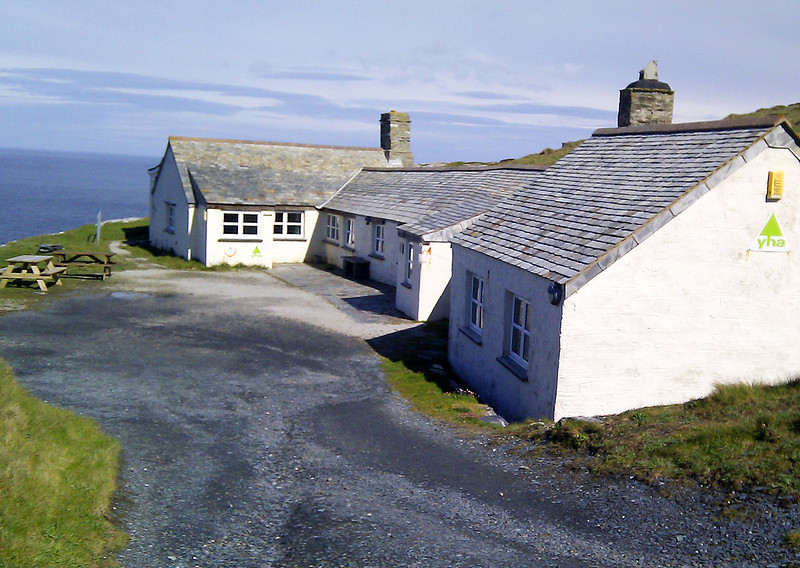 Tintagel Youth Hostel, right on the Coast Path.