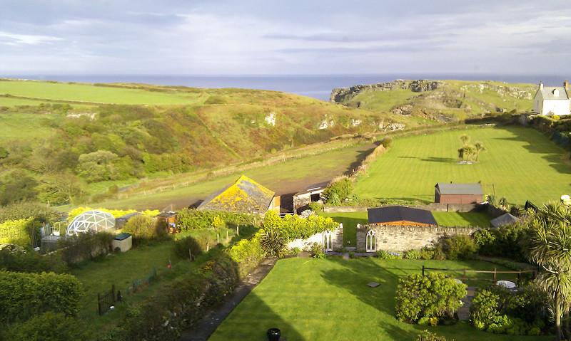 Morning in Tintagel, the compulsory bedroom window shot.