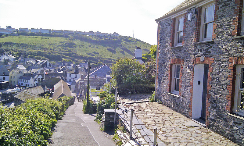The view down to the village from Doc Martin's house.