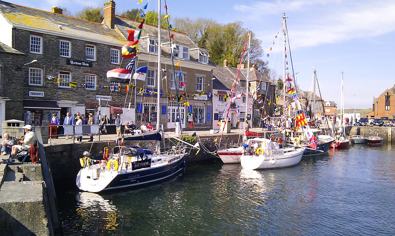 Padstow, in the middle of the 'Obby Oss' festival which plays on the rivalry between two areas of the town.   It involves strange dancing with a hobby horse, and of course the drinking of vast amounts of anything alcoholic.<br /> <br /> ..... and this is journey's end!