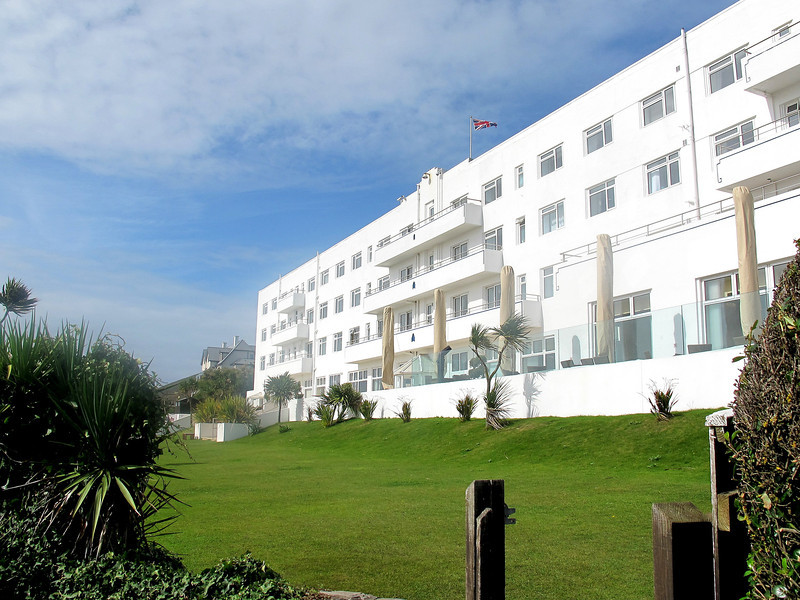 Saunton Sands Hotel, for days visible in the distance at the high ground looking down the beach.