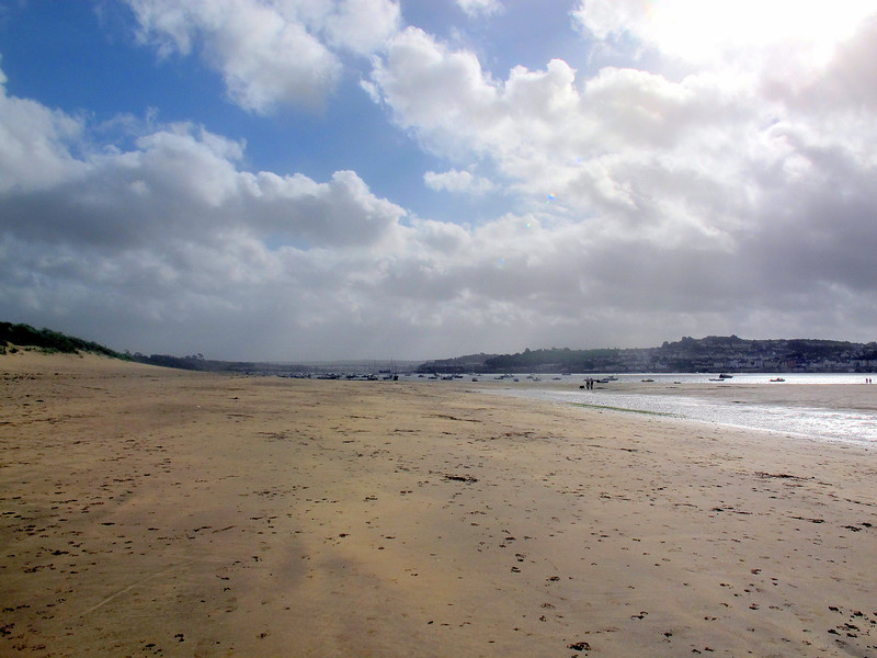The beach at Instow on a fine afternoon, the wind dropping now.