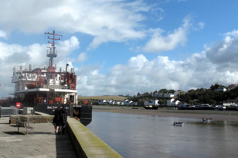 The quay at Bideford - two Russian ships take on a cargo of timber.
