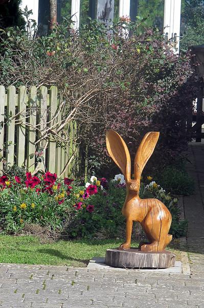 An unusual garden ornament.