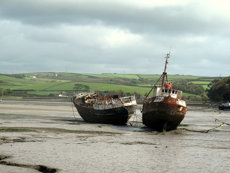 Old fishing boats at Appledore.