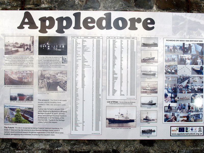 Some of the ships built at Appledore during its shipbuilding days.