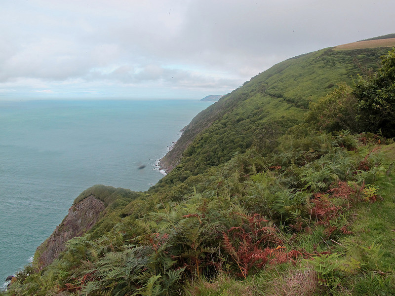 Looking where the path has come from, towards Porlock.