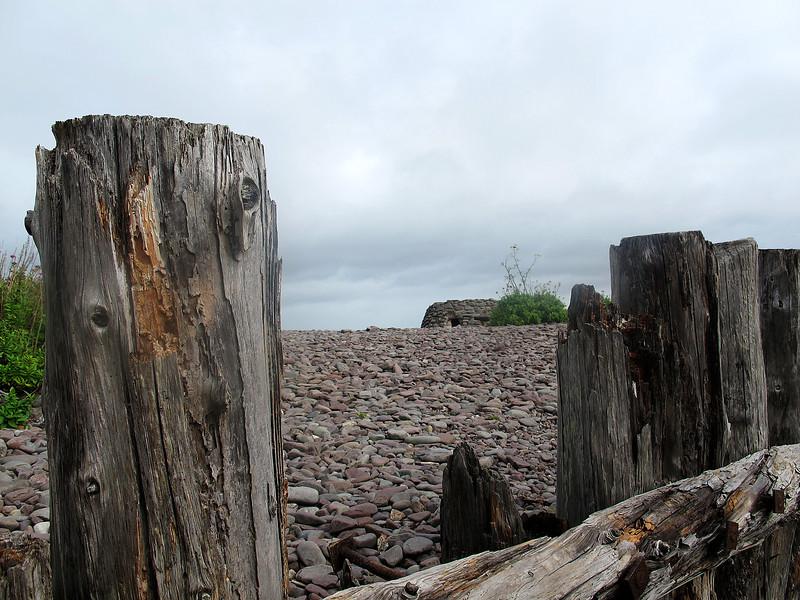 Groynes and beach defences at Porlock Weir