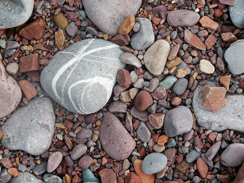Some of many.   The beach at Porlock Weir.