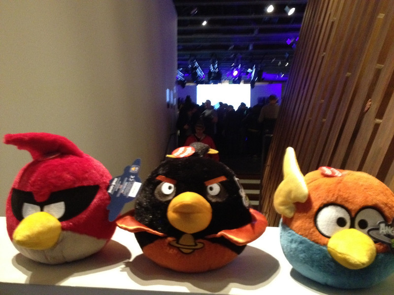 Angry Birds plush dolls.