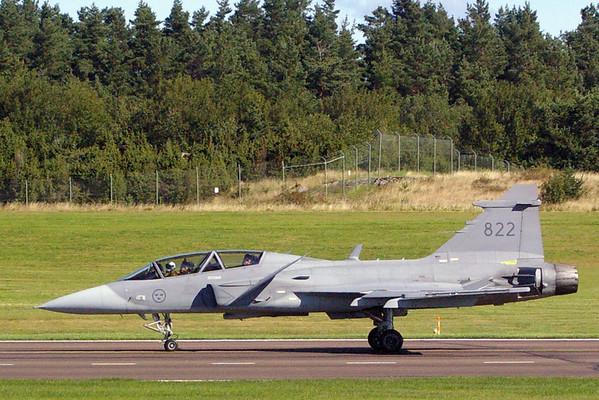Twin seat Gripen landing