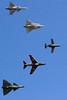 Gripen - Draken - 105 - Lansen - Viggen formation