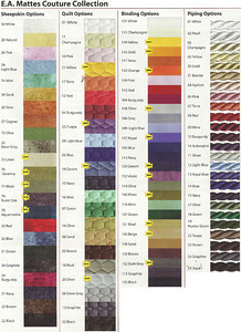 Mattes Couture Color Chart