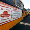 TA9.6 / Ads on school buses<br /> <br /> Choice 4 of 8<br /> <br /> 14 Feb 2012, Texas, USA --- 2/14/12 -  Advertising displayed on Eanes ISD school buses waiting for students at Hill Country Middle School in Austin, Texas Tuesday February 14, 2012. The school district began the advertising program in 2011 to bring in additional revenue. <br /> <br /> Photo by Erich Schlegel<br /> <br />  --- Image by © Erich Schlegel/Corbis