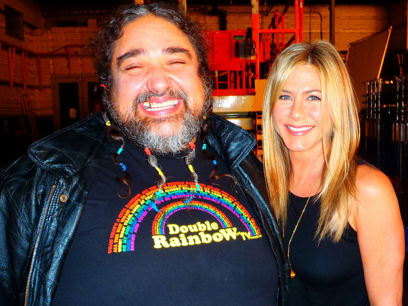 Yosemitebear of Double Rainbow fame meets Jennifer Aniston, to shoot a  Smart Water commercial. 11-10