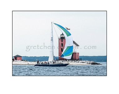 2013 Bell's Beer Bayview Mackinac Race Finish of USA 20119, Aristeia, Eric Hollerbach, Sparkman Stephens design