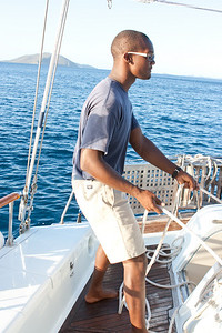 Krys sailing.