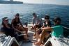 Everyone enjoying captain Steve's tour of the harbor