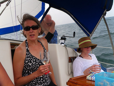 Sally offers a fine sail and wine pairing.