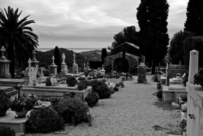 Cemetery in Saint-Paul, France, French Riviera