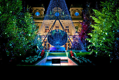 Christmas decoration at Casino de Monaco.