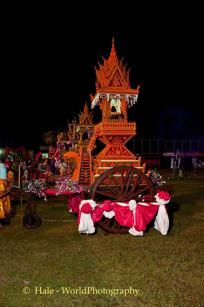 Decorated Cart for Sakon Nakhon Wax Castle Festival