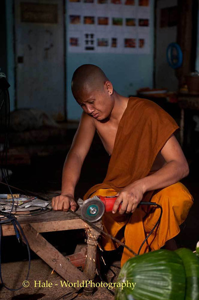 Monk Working On Item for Wax Castle