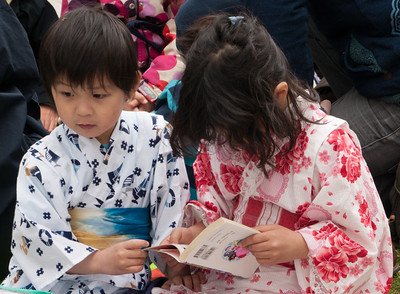 Children in kimonos