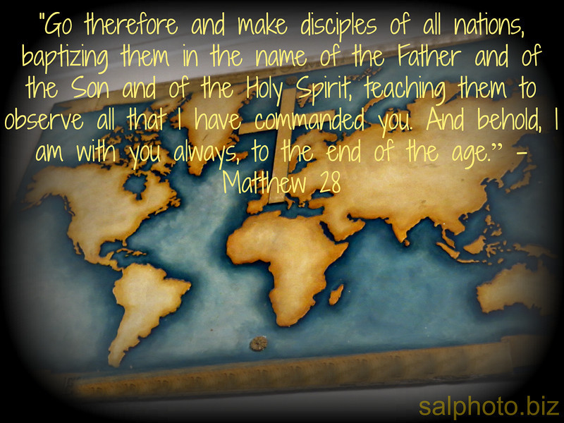"""Go therefore and make disciples of all nations, baptizing them in the name of the Father and of the Son and of the Holy Spirit, teaching them to observe all that I have commanded you. And behold, I am with you always, to the end of the age."""" -Matthew 28<br /> <br /> <a href=""""http://www.openbible.info/topics/making_disciples"""">http://www.openbible.info/topics/making_disciples</a><br /> <br /> more.<br /> <br /> <a href=""""https://goodnewseverybodycom.wordpress.com/2018/02/12/now-you-know-what-is-discipleship/"""">https://goodnewseverybodycom.wordpress.com/2018/02/12/now-you-know-what-is-discipleship/</a><br /> <br /> <a href=""""http://life.goodnewseverybody.com/mentoring.html"""">http://life.goodnewseverybody.com/mentoring.html</a><br /> <br /> <a href=""""https://www.instagram.com/p/Bf9DSbOhz44/?taken-by=goodnewseverybodycom"""">https://www.instagram.com/p/Bf9DSbOhz44/?taken-by=goodnewseverybodycom</a>"""