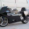 Turbo GSXR 1000 based bike, the young bloke that owns it paid a shop $50 k to build it. It ran over 200 mph straight off the trailer. He then proceeded to run 209 mph on the 150 mph limited short track, twice he got a red card and was sent home.