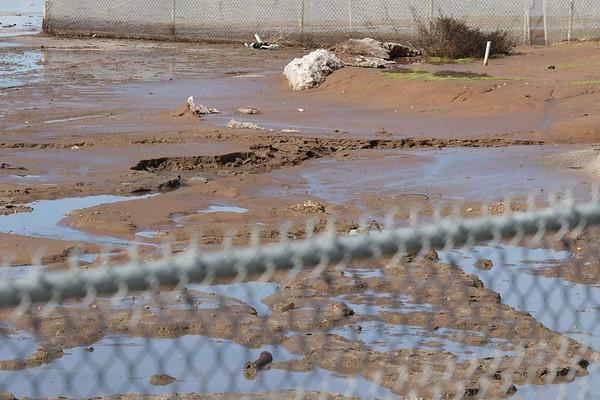 Salt Works damage Pond 29 SDG&E flooding 1/24/2017