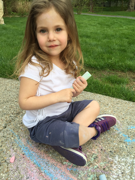 It's all about the chalk with Maddie