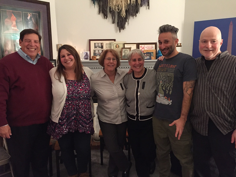 Uncle Dale, cousin Dani, and aunt Patti Ross; Niki, Ari, and Gary