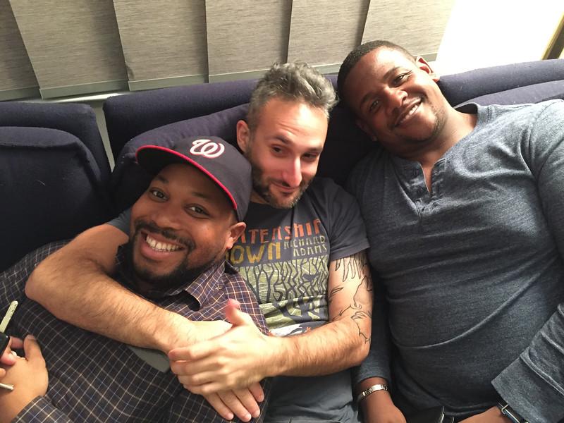 Ari with friends David Dupree and Bryant Harris