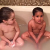 Tub video of Maddie and Sami