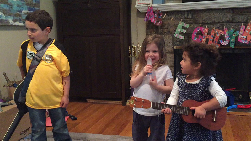 Cousins planting seeds of future band!