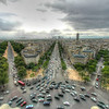Rush hour at the Arc de Triomphe roundabout in Paris