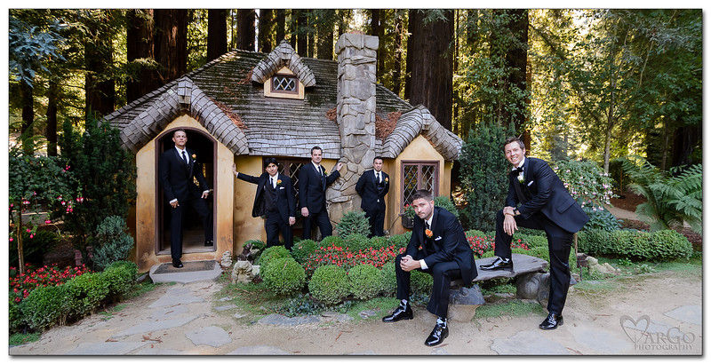 groom with groomsmen - Nestldown wedding