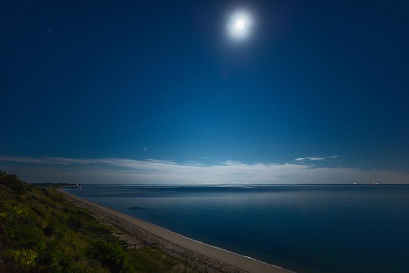 moonlight on Cape Cod Bay