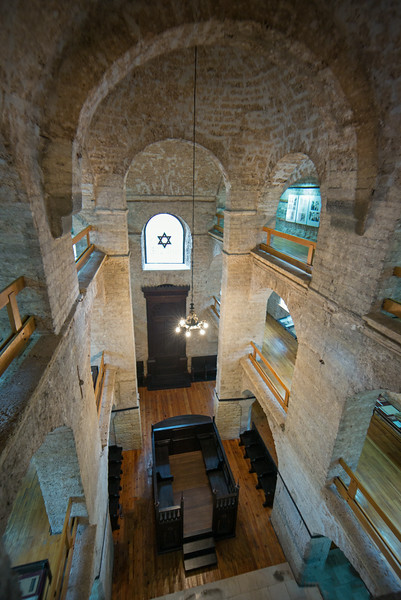 third floor view of Sephardic synagogue & museum Sarajevo