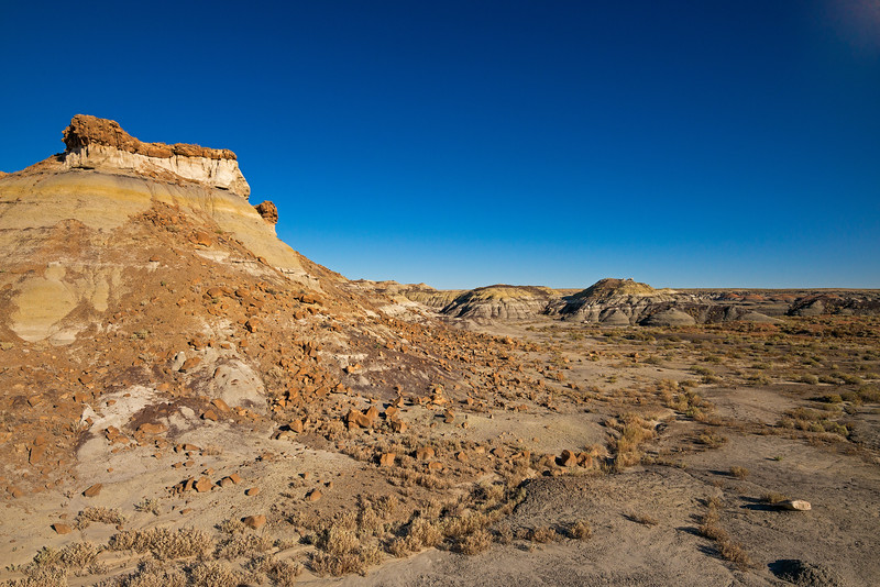 red rockslide Bisti National Wilderness