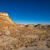 red rockslide Bisti National Wilderness