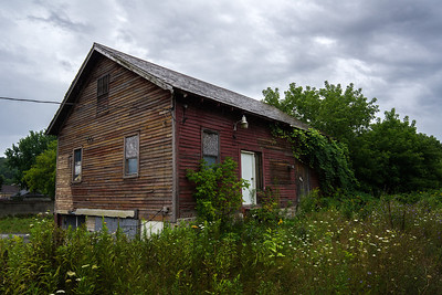 abandoned house along railroad bed Dalton