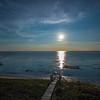 moony night Cape Cod Bay